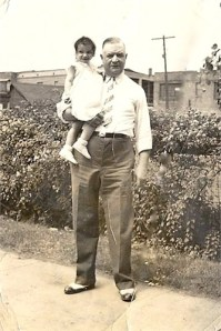 Great-Grandpa Charlie, with my mom, Joann circa 1937