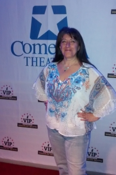 """Not looking too bad for 54, eh? BTW, I'm not really a VIP. Jeff and I went to see Brian Regan at Comerica Theater in Phoenix a couple days ago and Jeff found this """"red carpet"""" spot to take some pics. :-D"""