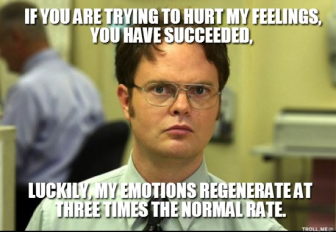 hurt feelings dwight